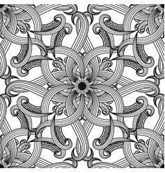 greek floral intricate meanders seamless pattern vector image