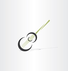 Guitar stylised icon design element vector