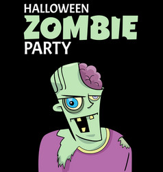 halloween holiday cartoon poster design with vector image