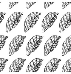 hand drawn background with sushi seamless vector image