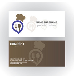 head cook creative business card vector image