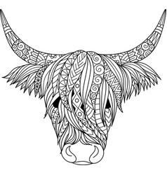 Highland cow vector