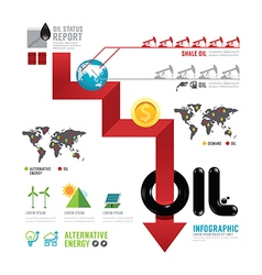 infographic oil business world arrow concep vector image