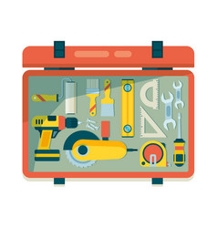 instrument toolbox repair equipment for workers vector image