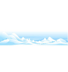 landscape snow-capped mountain peaks vector image