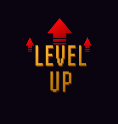 Lvl up new level logo vector