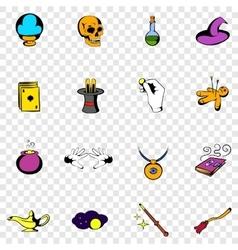 Magic set icons vector image