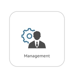 Management Icon Business Concept Flat Design vector image