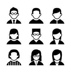 Managers and Programmers User Icons Set vector image