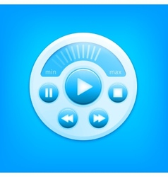 Media player interface vector