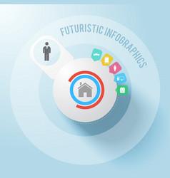modern futuristic business infographics vector image