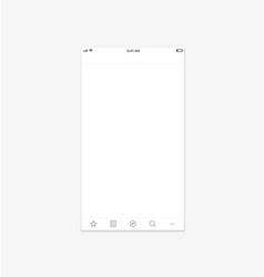 Modern smartphone application mockup vector