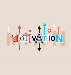 Motivation creative word over abstract geometric vector
