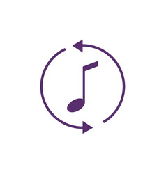 music updates outline icon logo notes refresh vector image