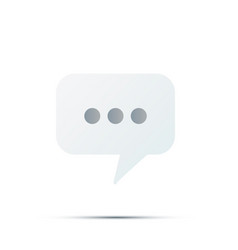 new comment symbol texting chat message bubble vector image