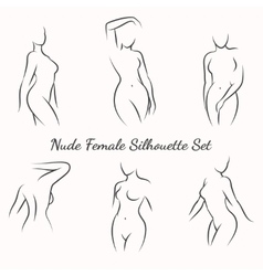 Nude female silhouette vector