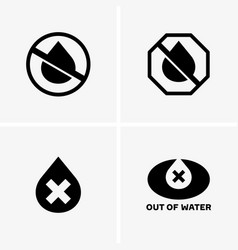 Out of water vector