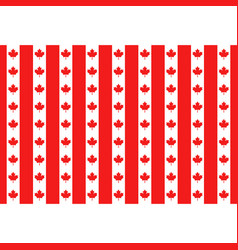 red maple canada seamless pattern vector image