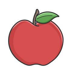Red organic apple design vector
