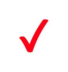 red tick marker checkmark icon vector image