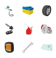 Renovation for machine icons set cartoon style vector image