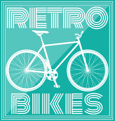 retro poster with bicycle in pink tone vector image