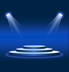 scene or stage round podium with lighting vector image