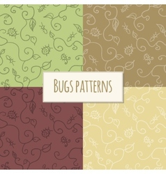 Seamless bugs pattern vector image