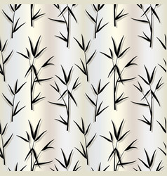 Seamless pattern with black bamboo leaves and vector