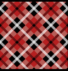 seamless red tartan pattern with white stripes vector image