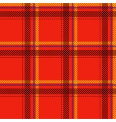 Seamless tartan pattern fabric Cells black yellow vector image