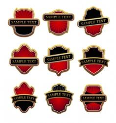 set of golden labels vector image
