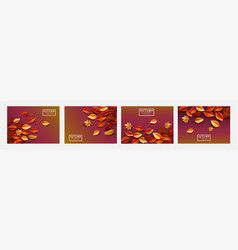set template autumn background vector image