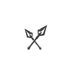 spear icon template vector image