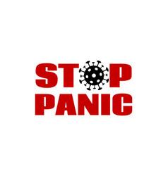 Stop panic banner poster for coronavirus vector