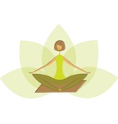 Stylized yoga lotus pose vector