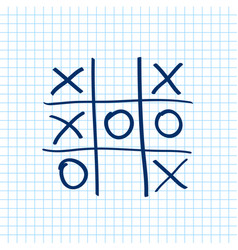 tic tac toe noughts and crosses board game icon vector image
