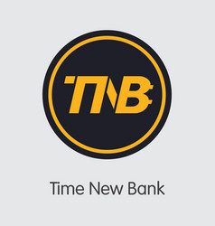 Time new bank crypto currency - logo vector