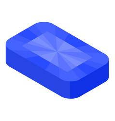 Topaz gemstone icon isometric style vector