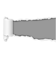 Torn snatched window in sheet of white paper vector
