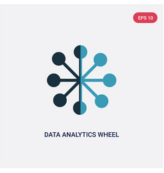 two color data analytics wheel icon from user vector image