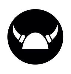viking helmet with horns vector image