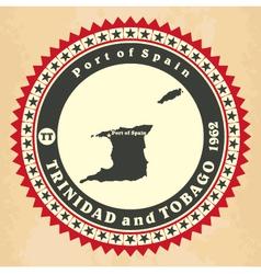 vintage label-sticker cards trinidad and tobago vector image