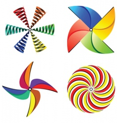 Wind mills collection vector