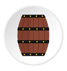 Wine wooden barrel icon circle vector