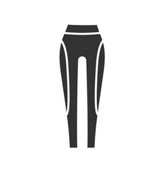 Womens sports pants glyph icon vector