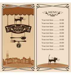 City Cafe vector image vector image