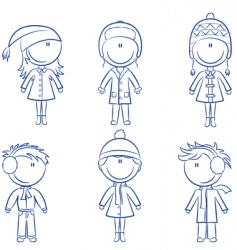 cute cheerful kids vector image vector image