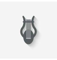 lyre music design element vector image vector image