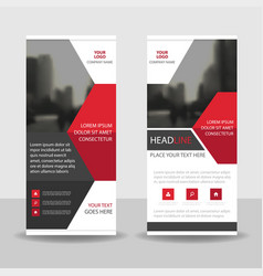 red black business roll up banner flat design vector image vector image